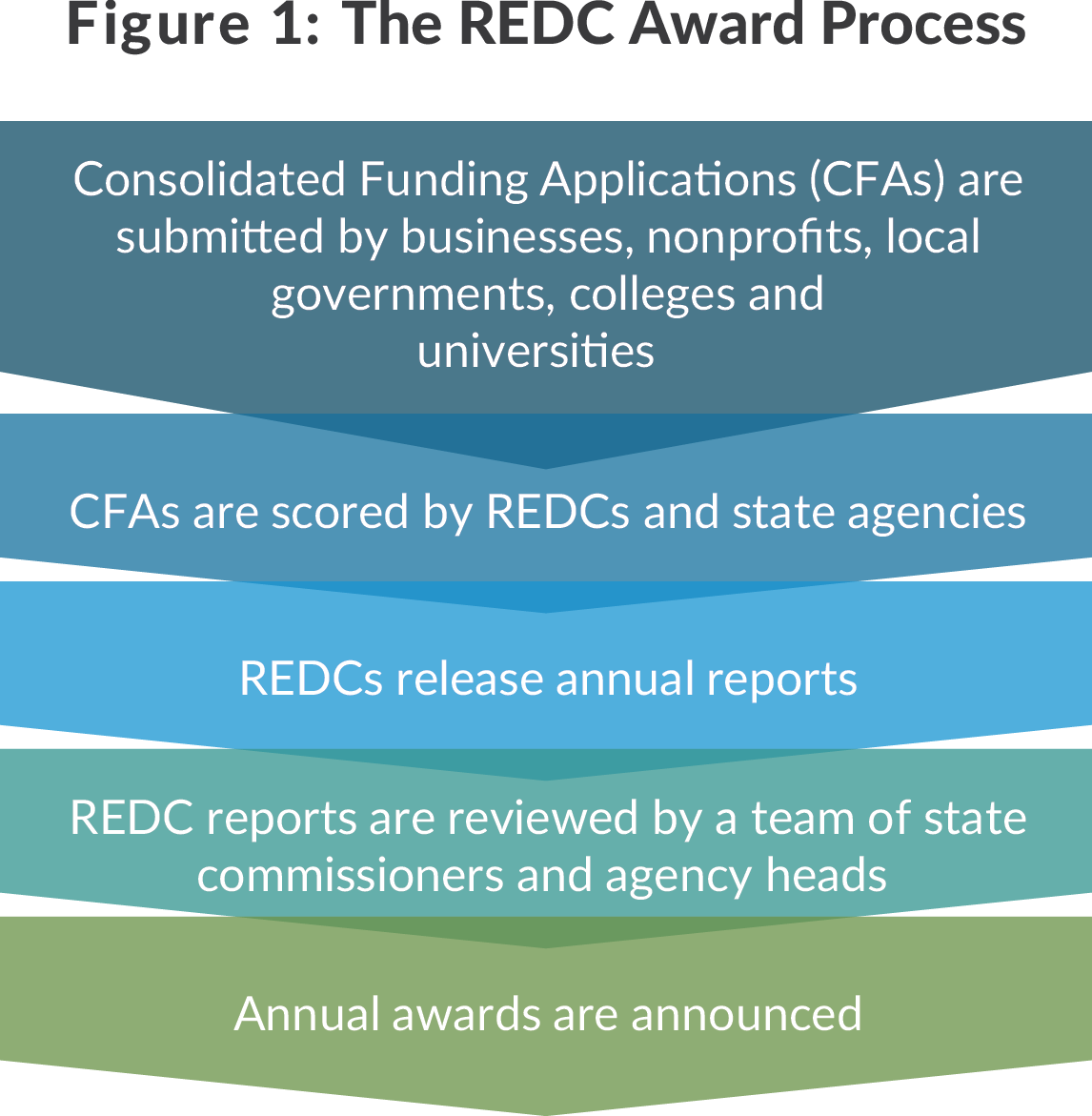 Figure of New York State Regional Economic Development Councils award process