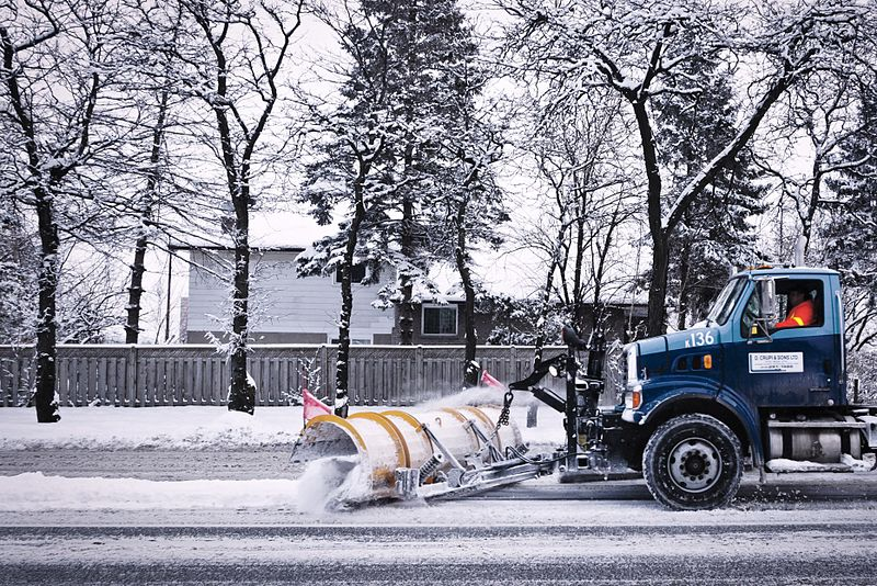 Other large cities use a diverse group of city workers and private contractors for snow removal. In Toronto, a combination of public employees and contractors work together to remove snow from streets.  Two-thirds of the snow removal budget is for private contractors.